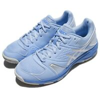 Asics Gel-Domain 4 IV Blue Silver Women Volleyball Badminton Shoes E659Y-3993