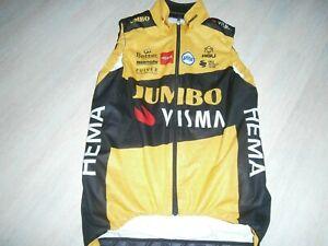 Pro cycling jersey 2020 Team JUMBO VISMA winter vest from rider T VAN DER HOORN