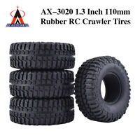 """4x 1.9"""" 102mm Rubber Rocks Crawler Tires Tyre for 1/10 Traxxas SCX10 RC Car"""