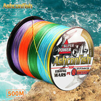 Japanese Super Strong PE 8 500M Braided Fishing Line Multifilament Braid 6-300LB