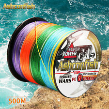 500M PE Braided Fishing Line 6-300LB Strong 8 Strands Multifilament PE Line