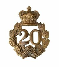 More details for 20th lancashire fusiliers 1st type glengarry badge brass metal