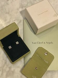 Van Cleef & Arpels Alhambra Earrings White Gold and Mother-of-pearl - RRP £2,060