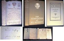 1910 FLAUBERT ST. ANTHONY WITH DUSTJACKET LAFCADIO HEARN TRANSLATION