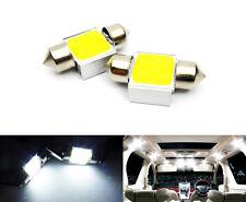 2x White COB LED DE3022 DE3175 For TOYOTA Interior Dome Light 31mm Festoon Bulb
