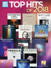 Top Hits of 2018 Sheet Music Easy Guitar Book New 000283786