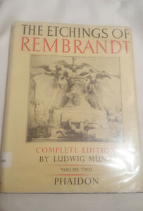 The Etchings of Rembrandt 1952 Volume 2 Phaidon - Ludwig Munz - Ex-Library
