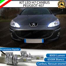 KIT FULL LED PEUGEOT 407 H7 6500K ABBAGLIANTE CANBUS 8000 LUMEN