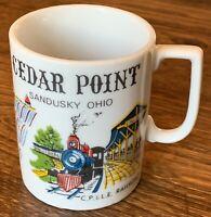 Vintage 1970's Cedar Point Sandusky Ohio Amusement Park Souvenir Coffee Mug 8oz