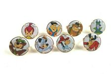 1970s Vintage Gumball Rings Lot of 8 ~Flintstones Yogi Bear Quick Draw Magilla