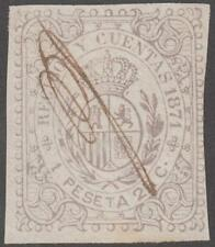 Spain Caribbean Island Recibos Receipts Revenue Forbin #1 used 1P25c imperf 1871