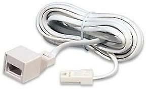 Titan BT Telephone Extension Cable 3m M to F (4-WAY) R/H PLUG & SKT 16030