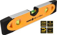 Wasserwaage mit Magnet 230mm Magnetwasserwage 180°, 90°, 45° Libelle Richtwaage