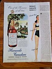 1947 Harwood's Canadian Whisky Whiskey Ad  Muskoka Distric Province of Ontario