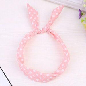 Women's Twist Wire Headbands Rabbit Ears Knot Head Bunny Hair Tie Wrap Bow Bands
