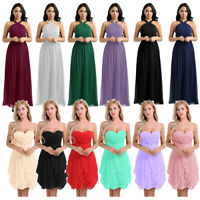 Women Chiffon Formal Wedding Evening Ball Gown Party Prom Bridesmaid Dresses New
