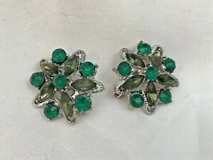 Pin Set Green Emerald Shades of Green Crystal Brooch- Set Great Gift !  NEW!!