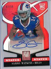 SAMMY WATKINS - 2014 Elite Die Cut STATUS RED Rookie SSP AUTO 07/10 - Bills RC