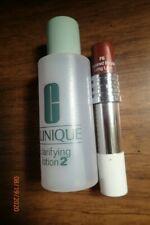 Lot of Clinique Clarifying Lotion 2 - 2 Oz & Long Last Sugared Maple Lipstick