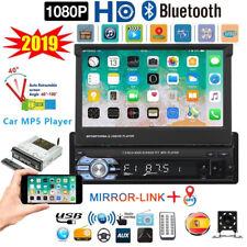 1 DIN Autoradio 7'' Pantalla Táctil Coche MP5 USB Player GPS Bluetooth + EU Map