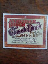 Budweiser Anheuser Busch Classic Dark Beer Refrigerator Magnet