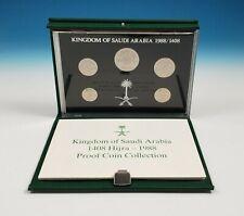 Kingdom of Saudi Arabia 1408 Hijra 1988 Proof Coin Set Limited Edition in Box