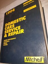 1994 Mitchell Service & Repair Manual General Motors  Vol 2 Domestic Cars engine