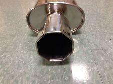 "Octagon 4"" Tip Performance Universal Stainless Steel Sport Muffler M-P-41"