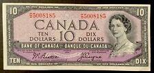 1954 - Ten Dollar Canadian Banknote - 10$, Bank Of Canada