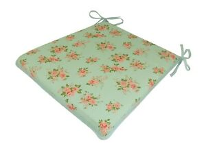 Country Rose Tapered Tie-On Seat Pad. Garden/Patio/Kitchen/Dining
