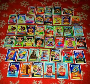 2021 Topps GPK Garbage Pail Kids Food Fight Lot 13 Green Parallel 28 Base Cards