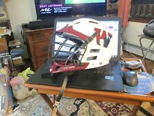 "Cascade Model ""R"" White/Maroon Lacrosse Helmet With Decals M/L"