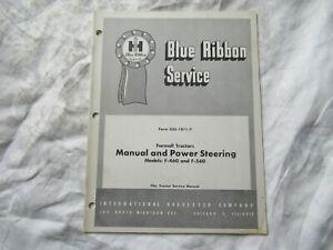 1961 International farmall 560 460 tractor power steering service manual
