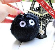 My Neighbor Totoro Dust Bunny Studio Ghibli Plush Black Soot Sprite Charm chain