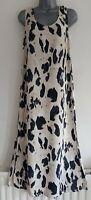 AUTOGRAPH Women's Black Mix Leopard Print Sleeveless Sheath Dress. Size UK 10.