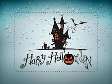sticker decal car bike bumper halloween spooky kid happy haunted house