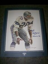 1984 Pizza Hut/Dr. Pepper Poster of Mel Renfro Autographed Roh '81