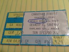 ticket grateful dead beach boys joan baez devadip c. santana jan 13 1980 Oakland