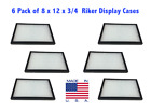 6 Pack of 8 x 12 x 3/4 Riker Display Cases Boxes for Collectibles Jewelry & More