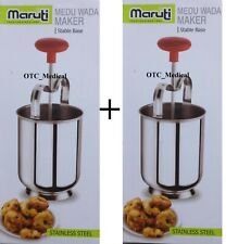 Doughnut Donut Maker 2 Set Steel Menduwada Meduwada Maker Dispenser Lot of Two