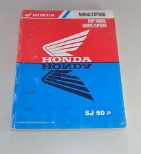 Officina Manuale/Manuale d'officina Honda SJ 50 P STAND 1993