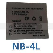 NB-4L NB4L Rechargeable Li-ion Battery Pack For Canon Digital Camera 3.7v 850mAh