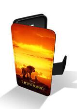 Lion King Simba Mufasa Africa Sunset Sunrise Disney Wallet Leather Phone Case