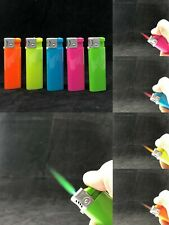 XUPER JET NEON Color TORCH 5 Ct  Color Flame Refillable Adjust Windproof Lighter