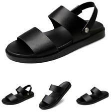 Mens Beach Sandals Slippers Shoes Black Open Toe Slip on Pool Outdoor Walking B