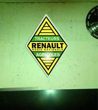 Plaque publicitaire Renault tracteurs agricoles vintage