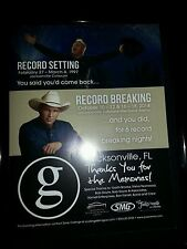 Garth Brooks Original Jacksonville Veterans Arena Rare Promo Ad Framed!