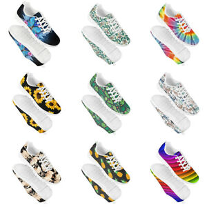 Womens Comfort Running Walking Shoes Sneakers Lace-Up Sports Trainers Unisex