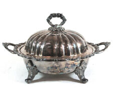 APCA Old English Silverplate by Poole Footed Round Covered Vegetable #5035