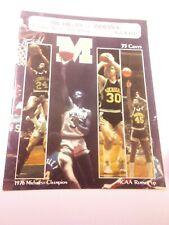 1976-77 Michigan Wolverines Indiana Hoosiers Basketball Program